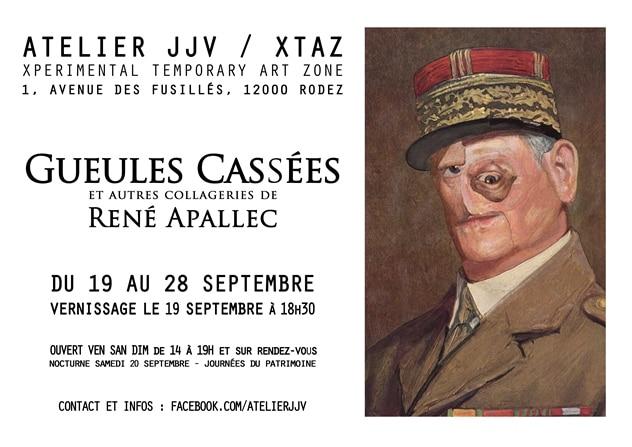 GUEULES CASSÉES de RENÉ APALLEC - Rodez du 19 au 28 SEPTEMBRE 2014