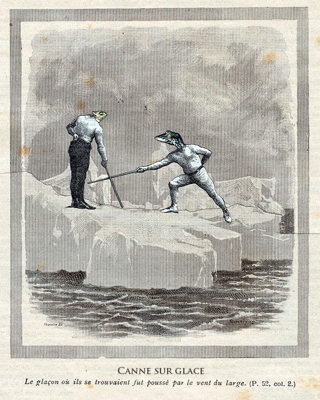 Canne sur glace