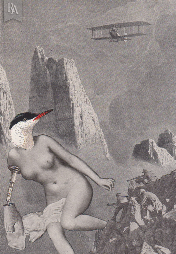 Série Mythologie Volatile - Collage - Dimension : 11x15cm