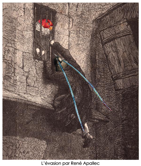 l'évasion collage de René Apallec